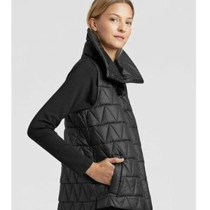 EILEEN FISHER Quilted CHEVRON RECYCLED NYLON VEST
